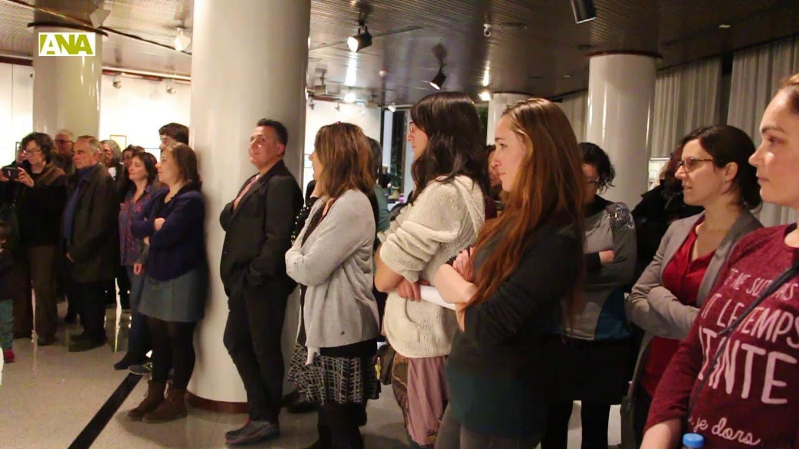 Inauguració de l'exposició 'Pigmentum Animae' celebrada aquest dimarts a Encamp