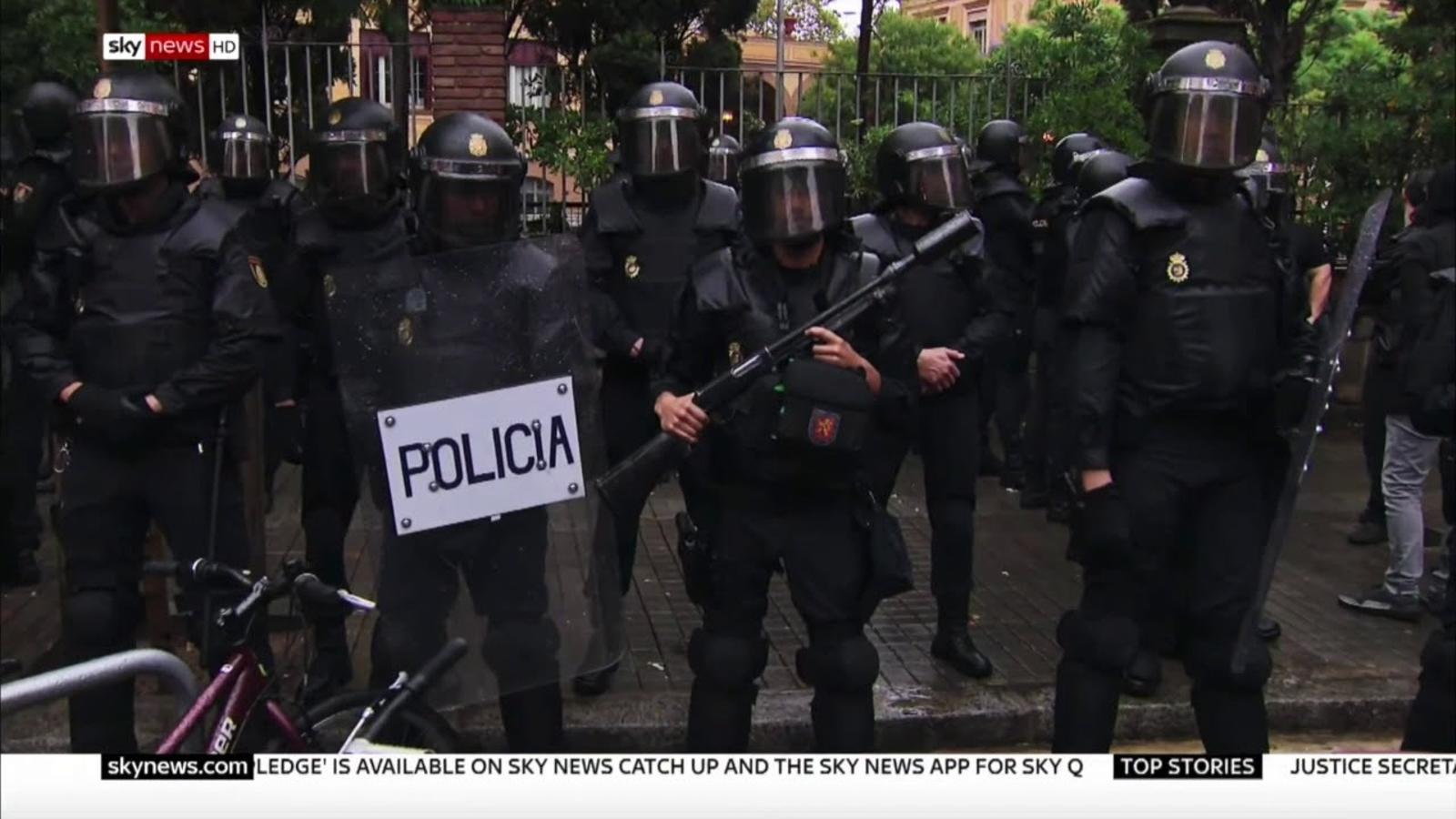 El reportatge amb imatges inèdites de l'1-O d'SKYNEWS es va emetre dijous a la cadena Sky Atlantic