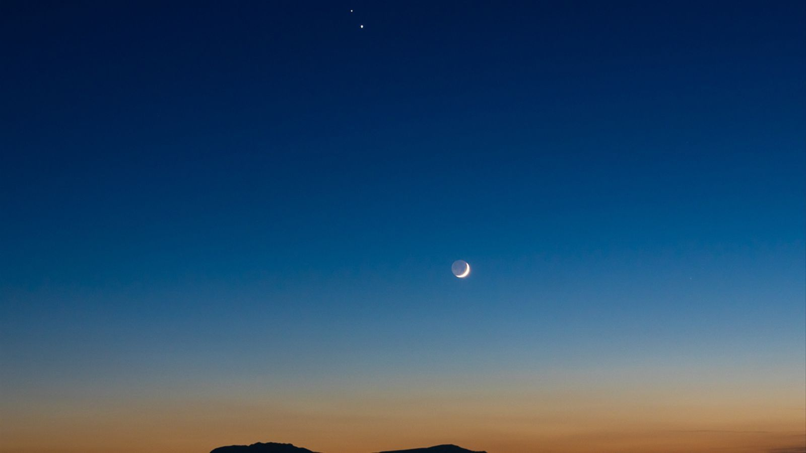 Júpiter, Saturn i la Lluna ahir a la tarda des de Deltebre