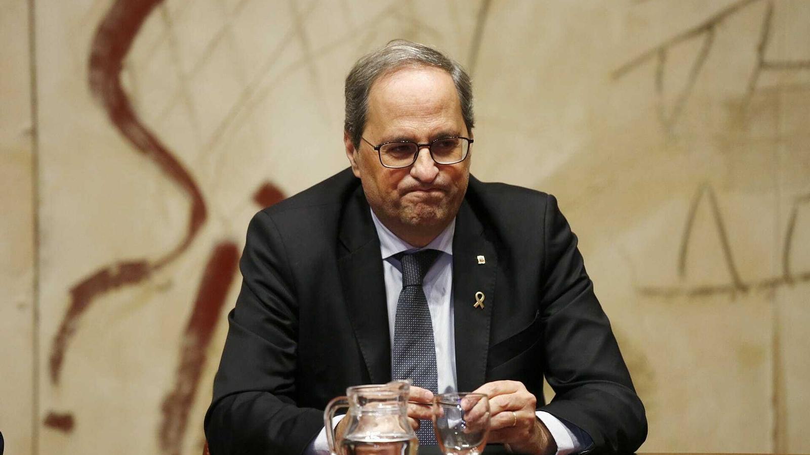 """Torra: """"És la Generalitat qui ha de gestionar el desconfinament"""""""