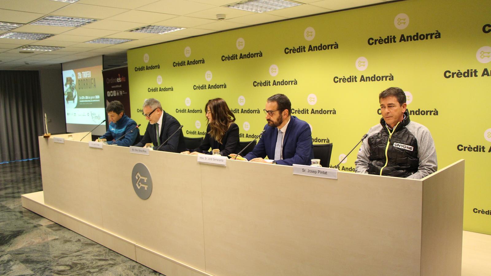 Els participants en la roda de premsa. / C. A. (ANA)