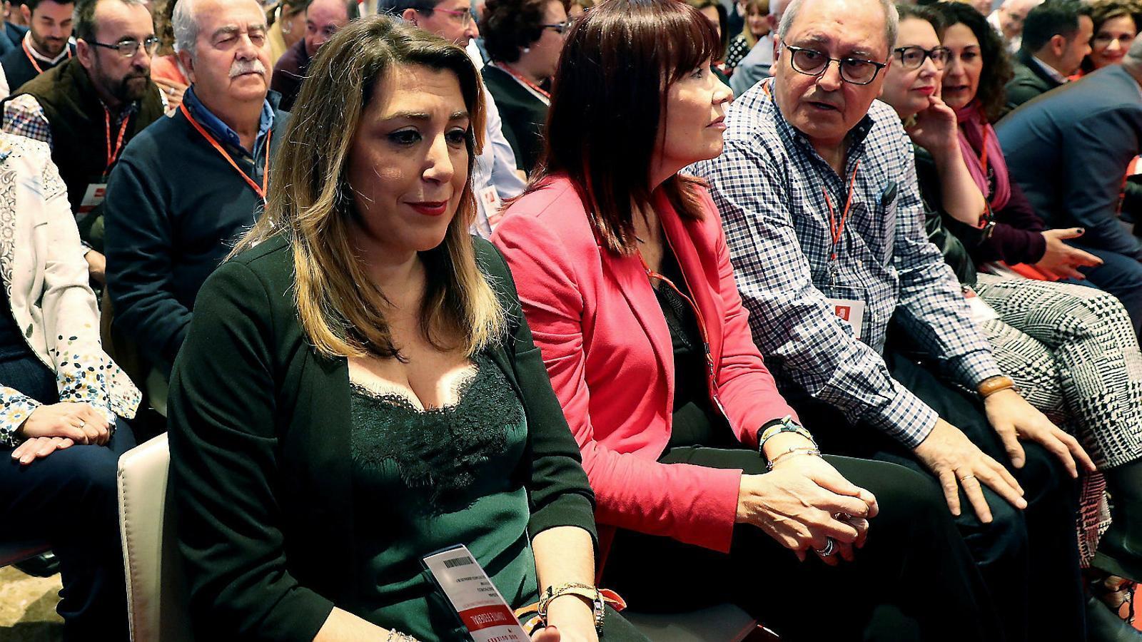 La líder del PSOE a Andalusia i expresidenta de la Junta, Susana Díaz, ahir al comitè federal.