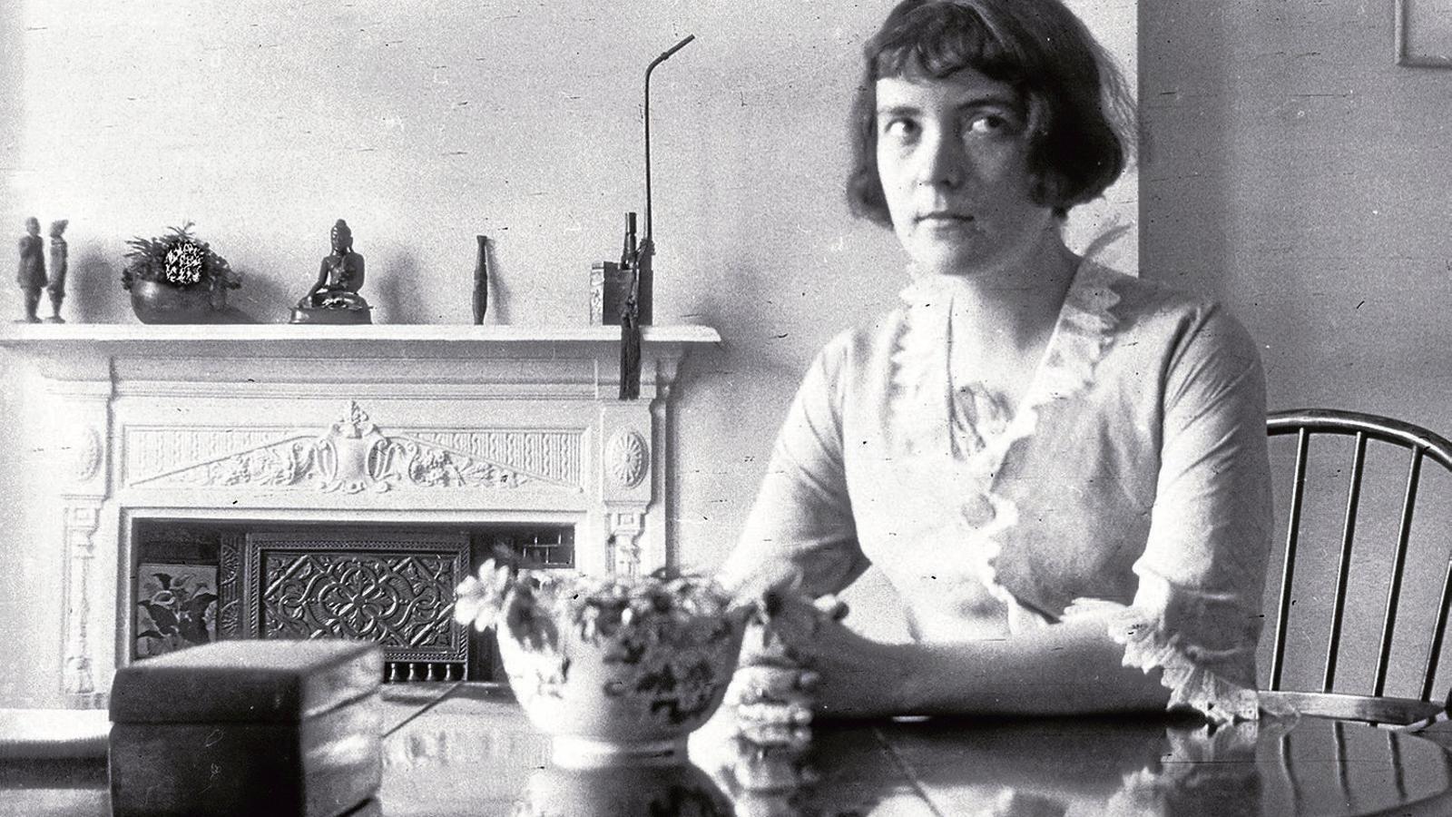Katherine Mansfield va publicar cinc llibres de contes en vida, entre els quals hi ha En una pensió alemanya.