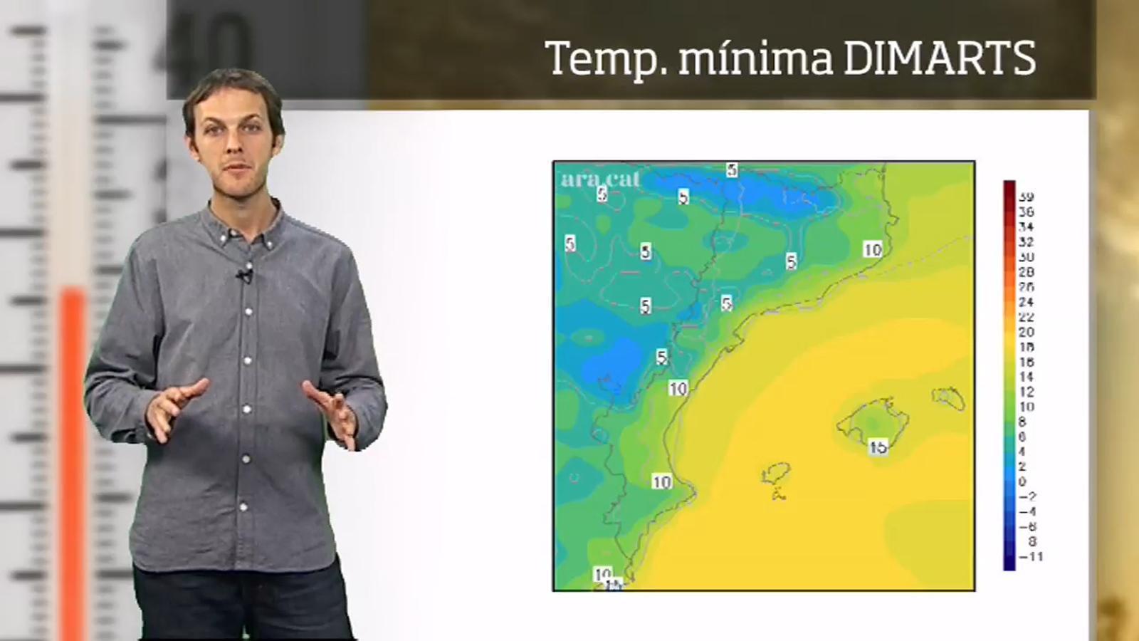 La méteo en 1 minut: marcat contrast tèrmic entre el dia i la nit
