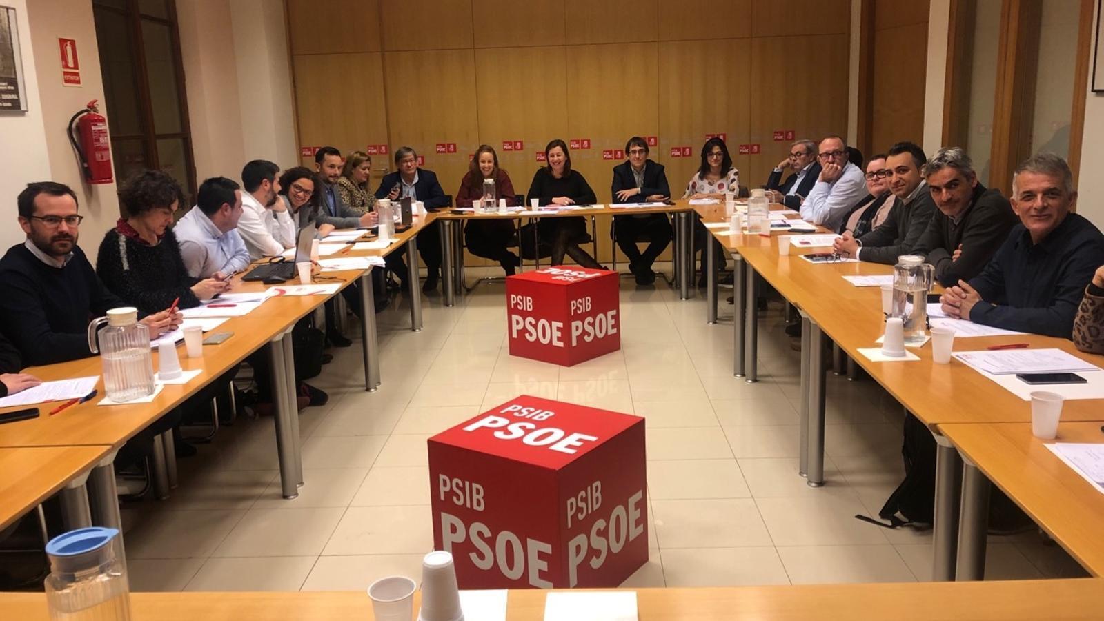 Reunió de l'executiva dels socialistes de Balears.