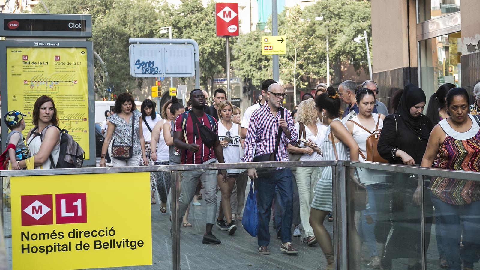 La gimcana per arribar al centre de Barcelona sense la L1