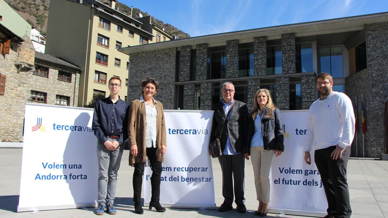Els candidats de Terceravia a la llista parroquial d'Andorra la Vella. / T. N