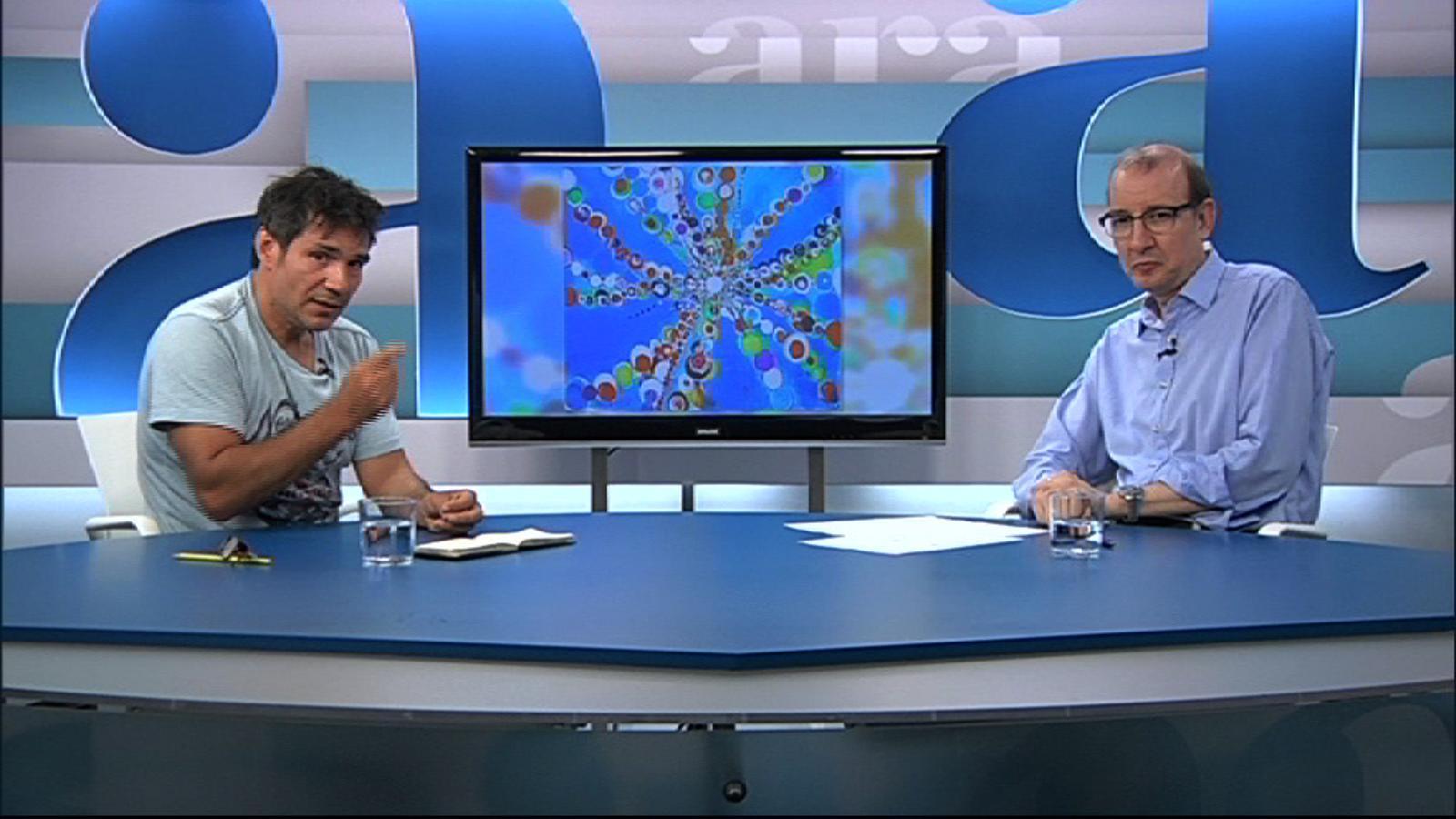 Entrevista d'Antoni Bassas a Santi Moix, per l'Ara TV Premium