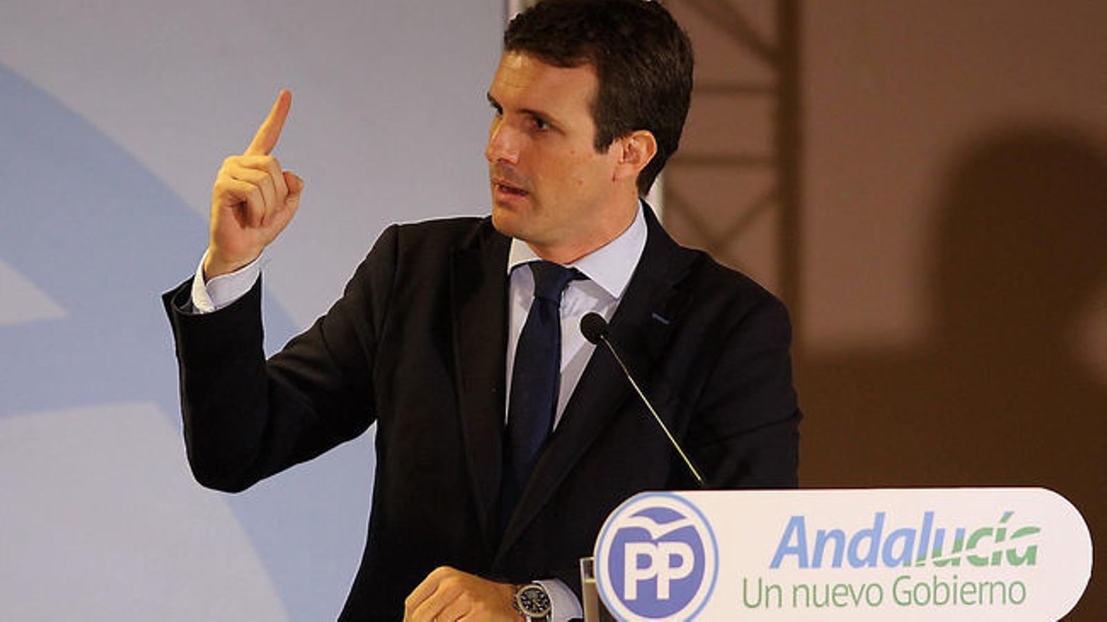 Pablo Casado reclama limitar l'acollida de menors no acompanyats