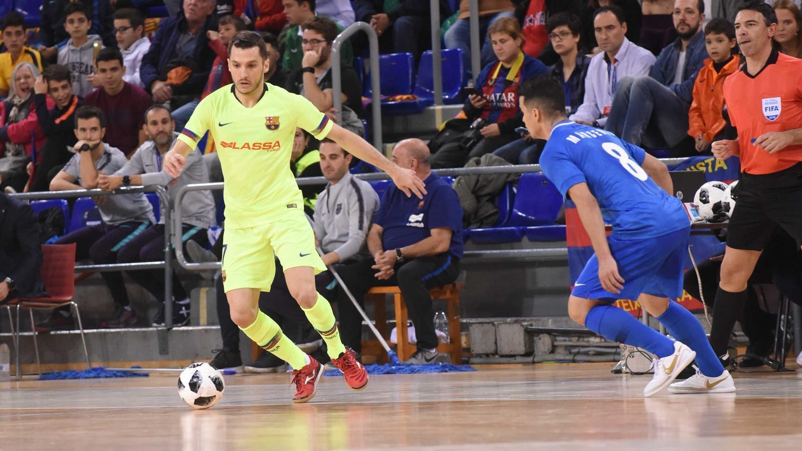 El Barça Lassa derrota l'Ugra Yugorsk rus i jugarà la 'final four' europea de futbol sala per sisena vegada