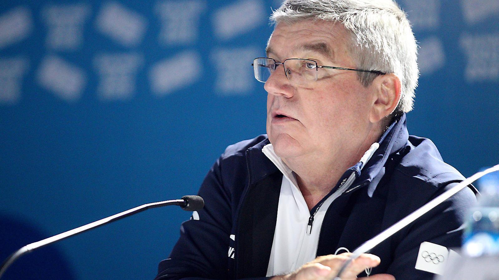Thomas Bach, president del COI, en una imatge d'arxiu de la cloenda dels Jocs de la Joventut, que es van celebrar a l'octubre a Buenos Aires.