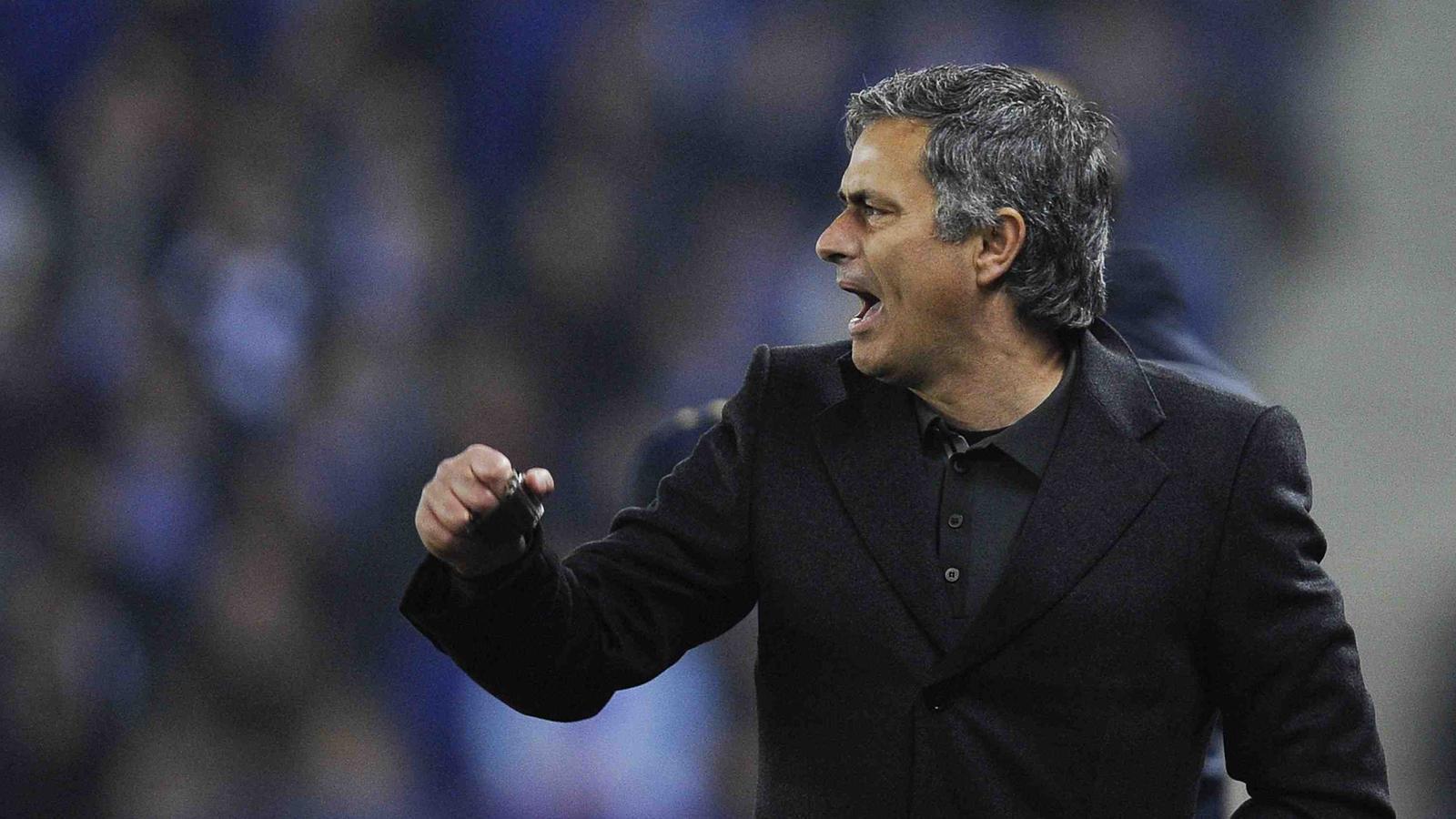 Mourinho celebra el gol de Marcelo contra l'Espanyol