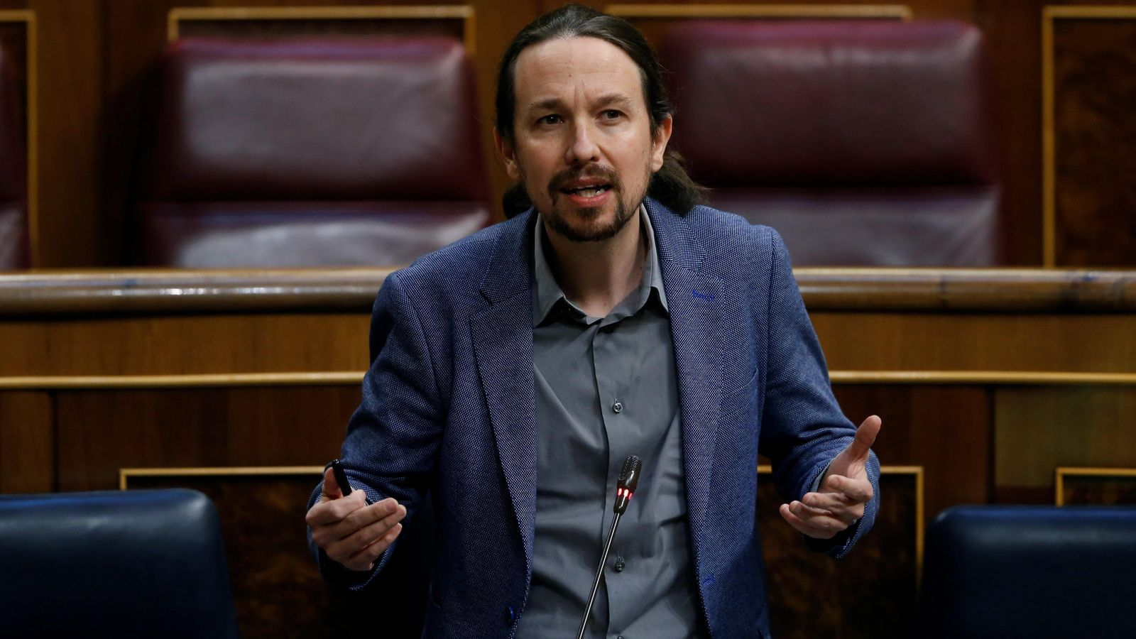Pablo Iglesias en el congrés dels diputats en el debat per la cinquena pròrroga de l'Estat d'Alarma
