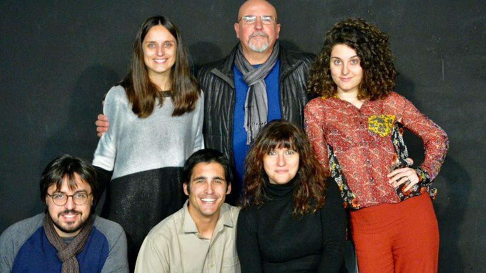 L'equip de l'obra 'Ferides' que obre la programació del 2020 de la Planeta de Girona