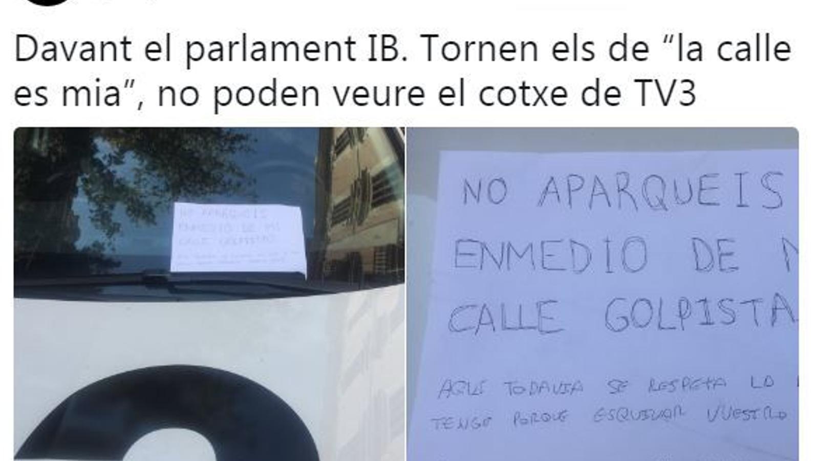 """Els de """"la calle es mia"""" envien un cotxe de TV3 a """"Tabarnia"""""""