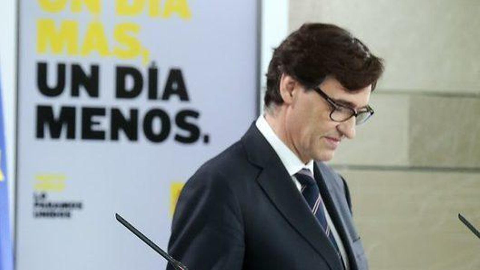 Roda de premsa dels ministres María Jesús Montero i Salvador Illa