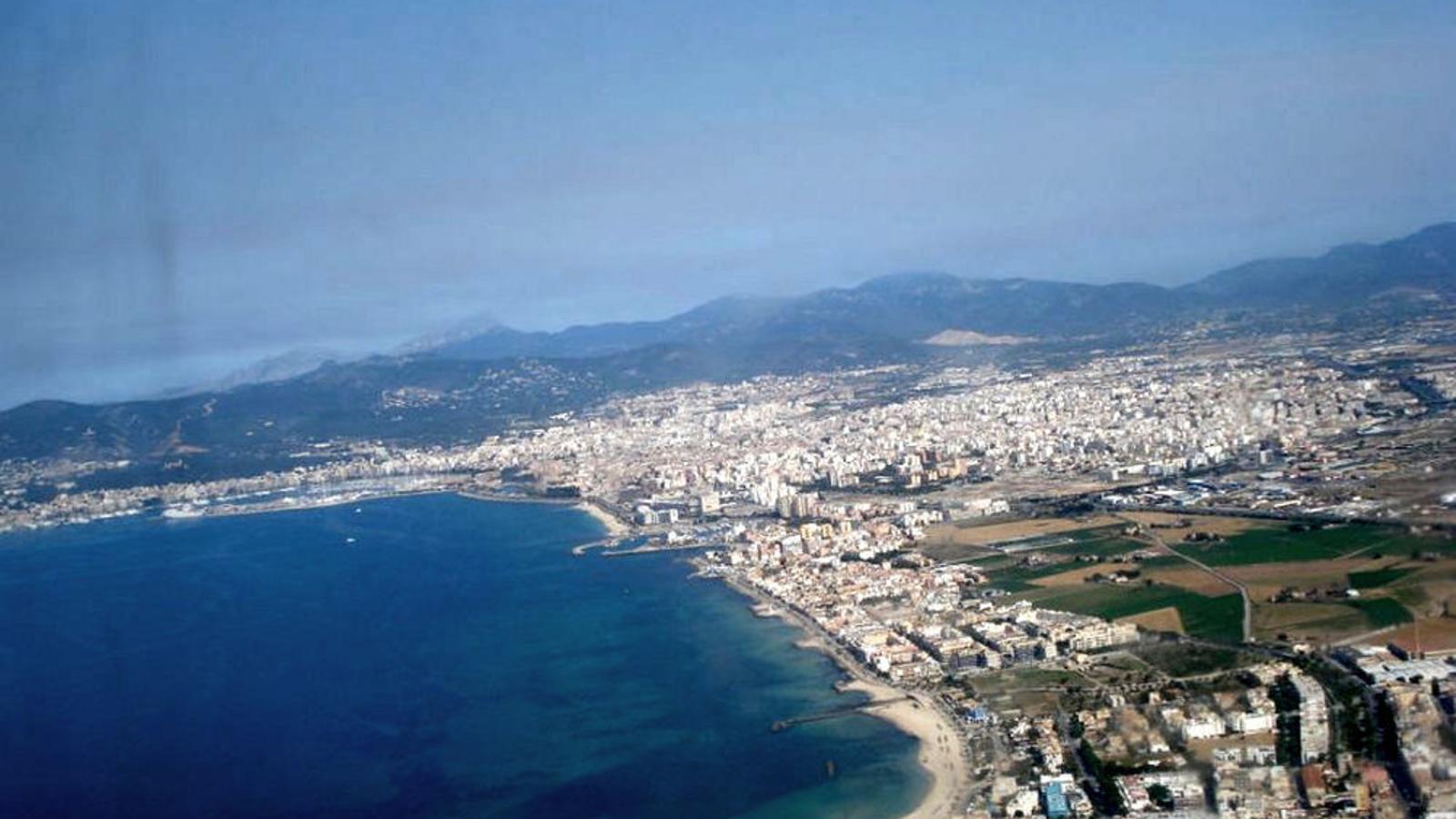 Vista aèria de la badia de Palma