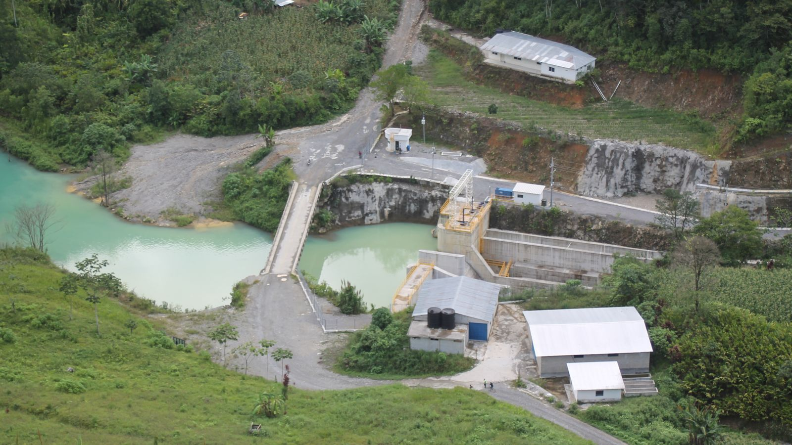 La hidroelèctrica Renace VI, a la comunitat de Pansamalá