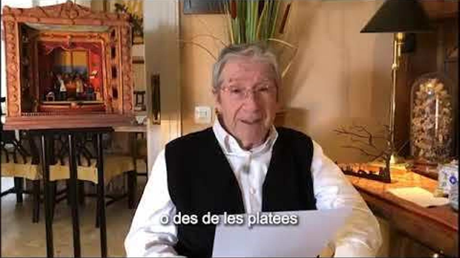 El missatge d'Adetca llegit per Joan Pera al Dia Mundial del Teatre