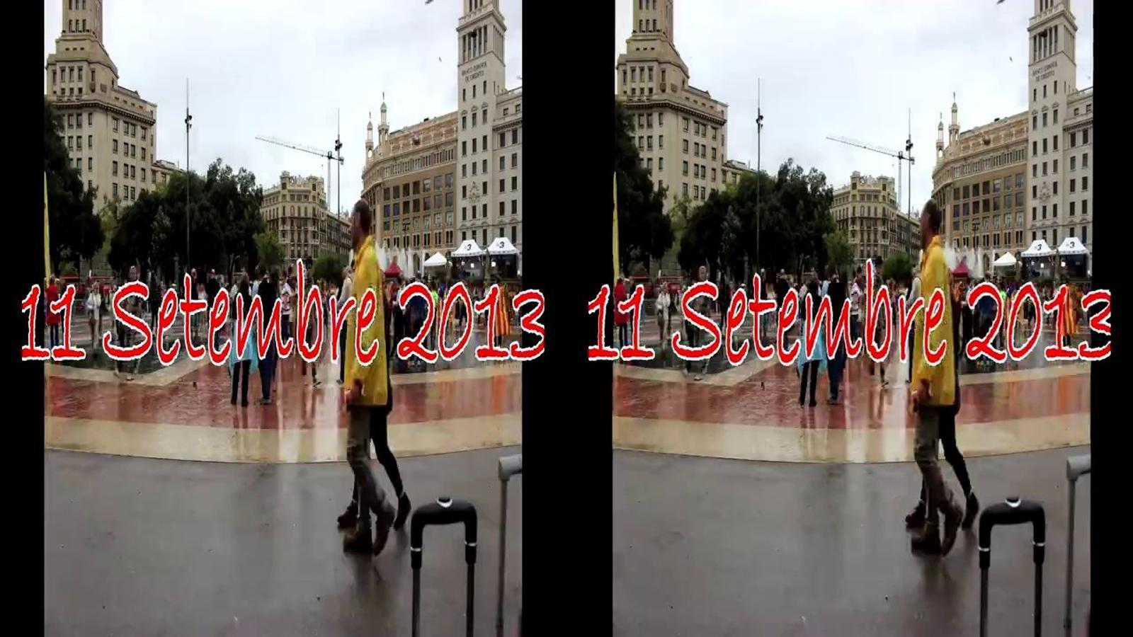 Així es va omplir el centre de Barcelona per la Via Catalana