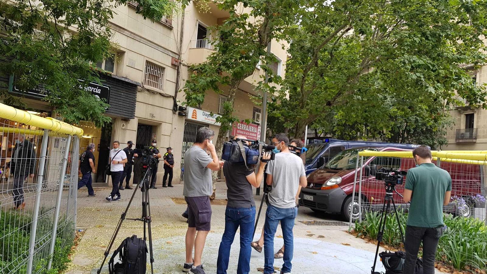 El desplegament policial  a Sant Antoni