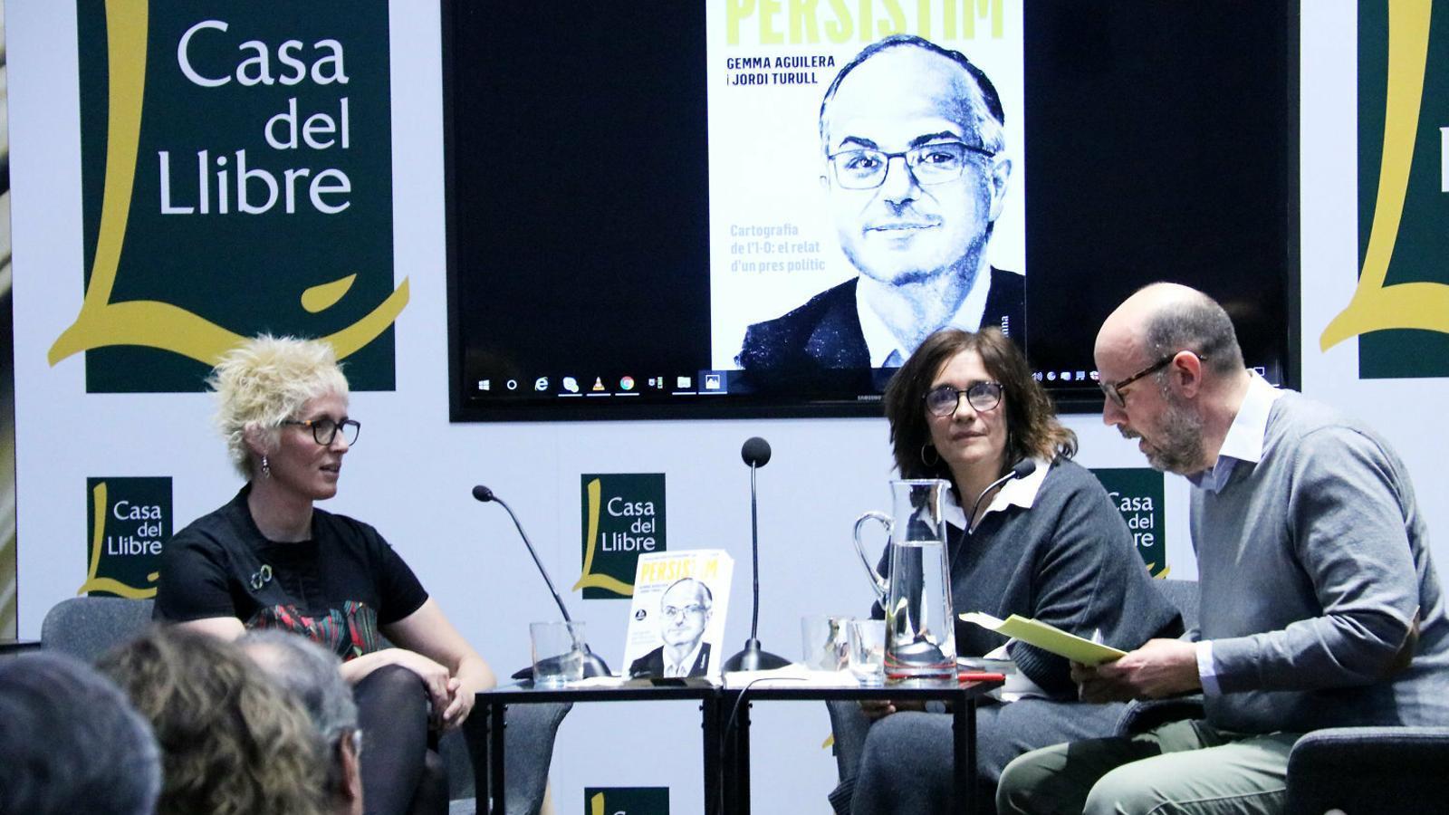 La presentació ahir del llibre de l'exconseller Jordi Turull.