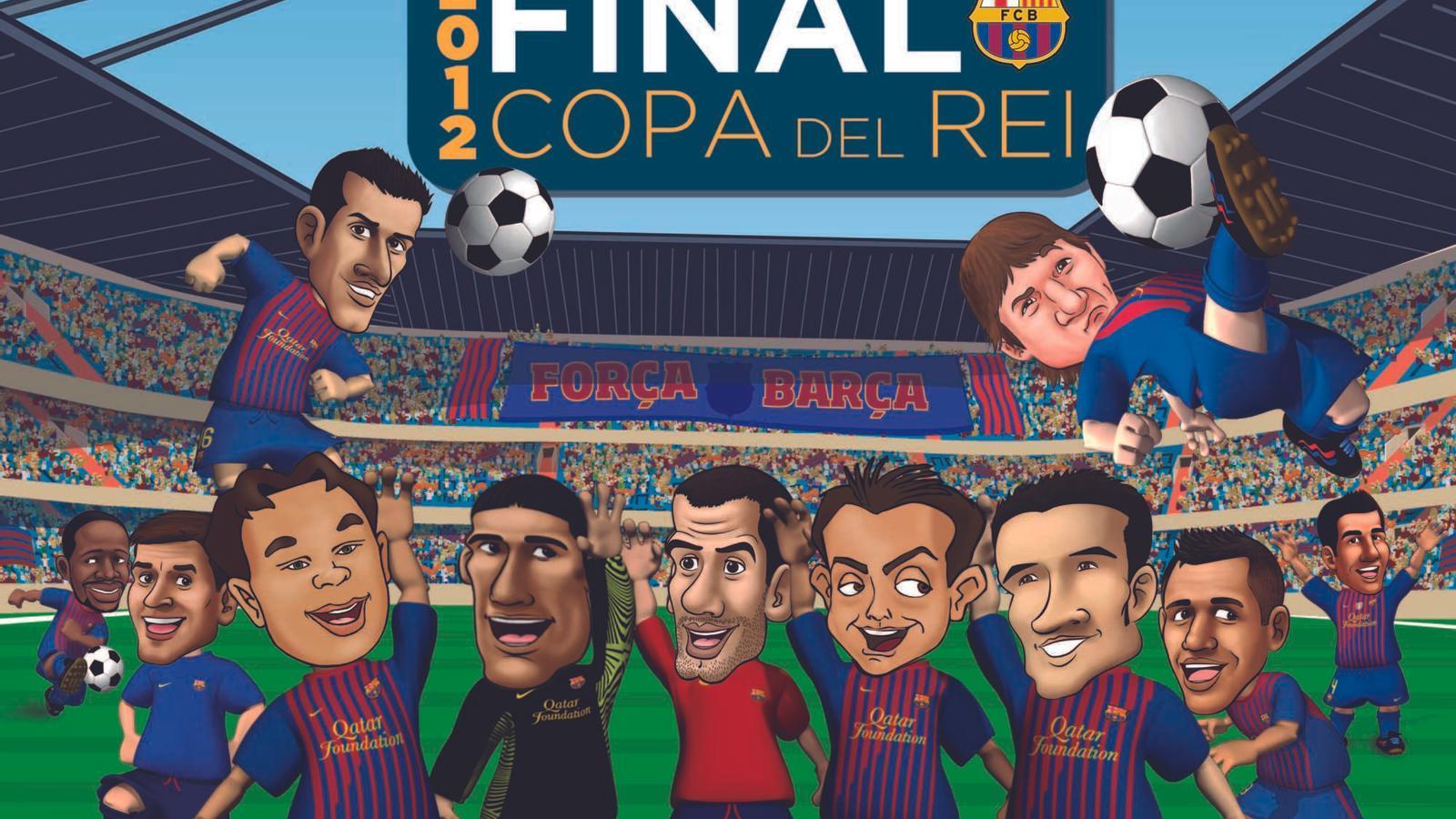 Els Barça Toons, a punt per a la final de la Copa del Rei