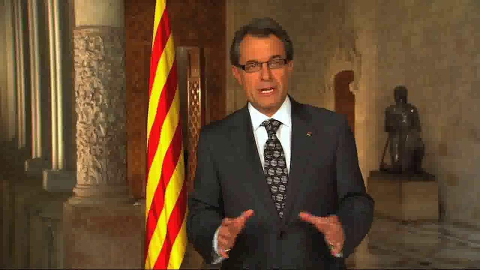 Missatge d'Artur Mas per la Diada: Podríem ser un poble derrotat, però som un poble viu i amb futur