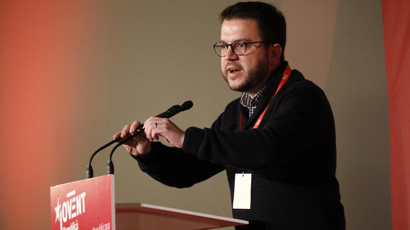"""Aragonès insta els demòcrates a plantar-se davant l'""""onada reaccionària"""" de l'Estat"""