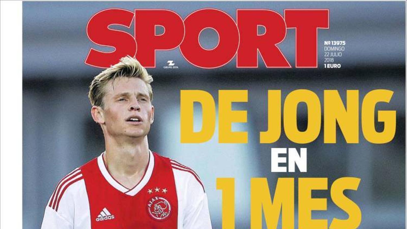 Portada 22 juliol Sport