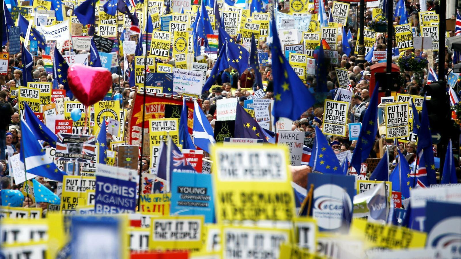 Un milió clama pel segon referèndum sobre el Brexit