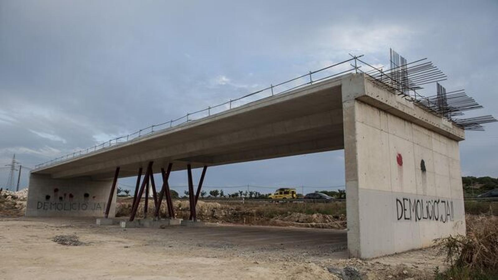 La zona de Rafal Rubí és un dels punts conflictius de les obres de reforma del tram entre Maó i Alaior.