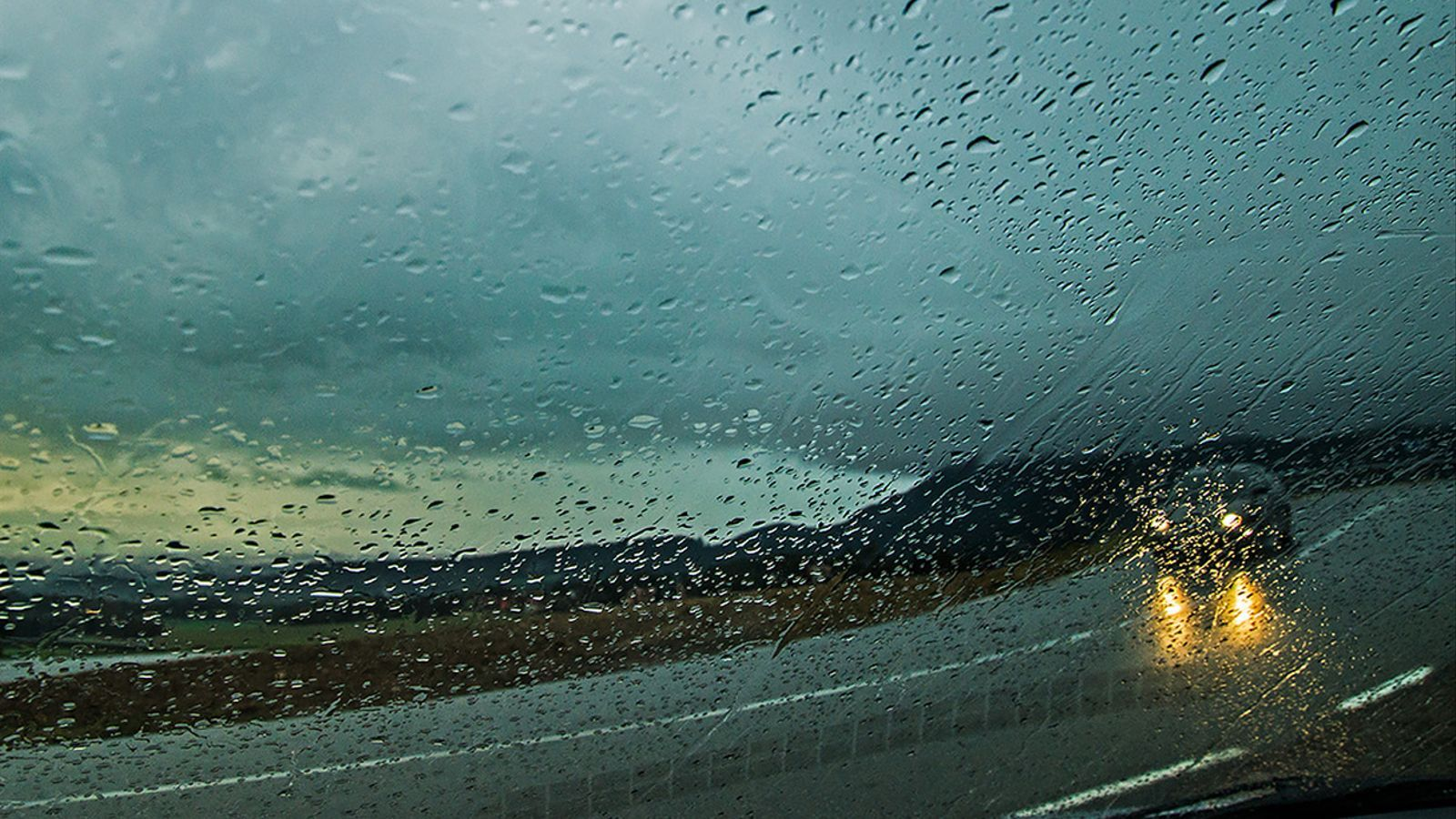 Pluja aquest matí a Gurb. EMILI VILAMALA