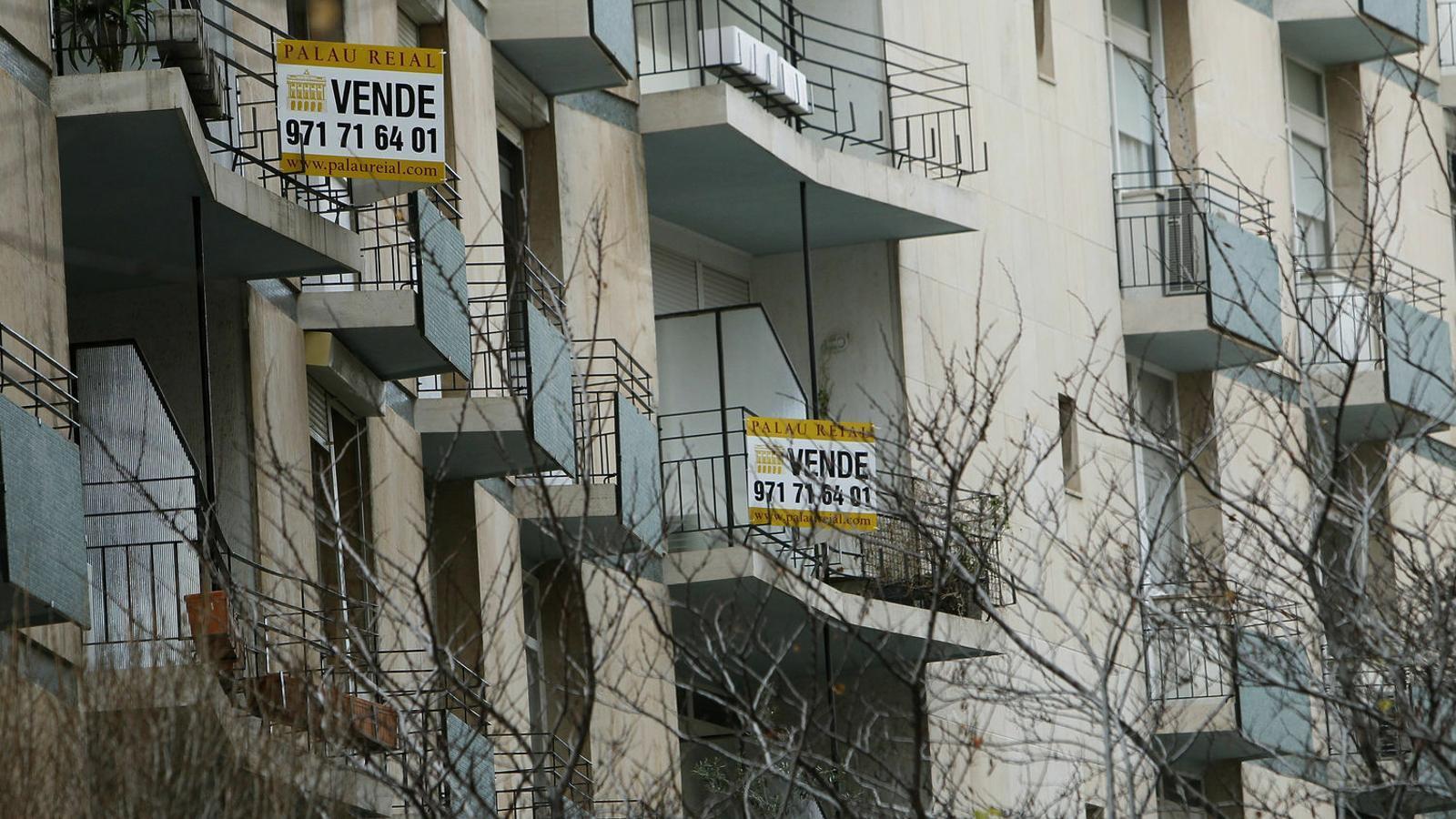La venda d'habitatges va caure un 9,4% a Balears el novembre