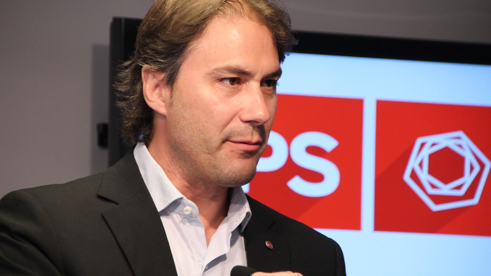 El candidat socialdemòcrata per Encamp, David Ríos. / ARA ANDORRA