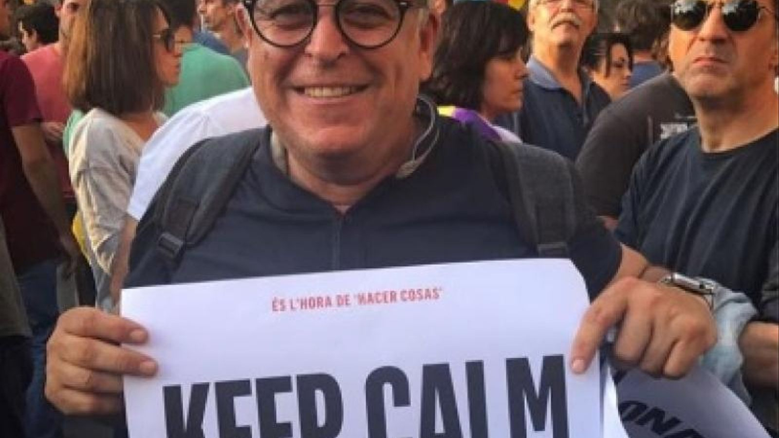 Aquesta foto penjada al Facebook de Jordi Puig és la que va provocar la seva destitució / ARA