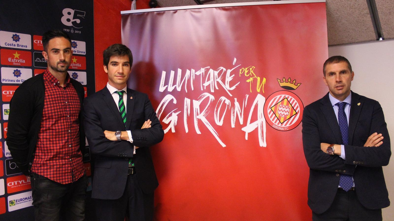 La presentació de la campanya del Girona