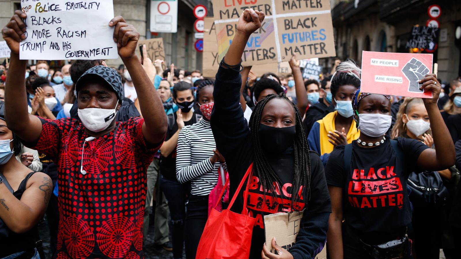 El Black Lives Matter també es fa sentir a Catalunya