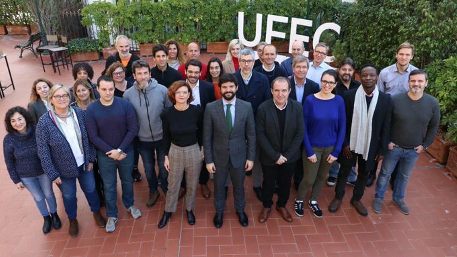 Foto de família dels participants en el projecte SPEY que impulsa la UFEC