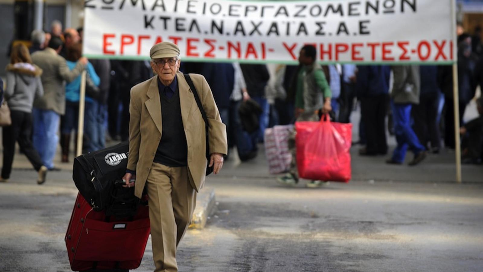 vaga de transports a Grècia - AFP