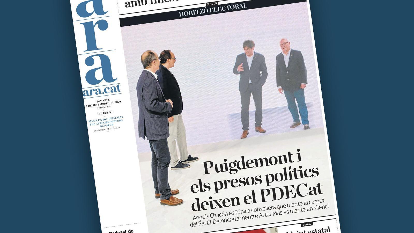Puigdemont i els presos polítics deixen el PDECat, mascareta obligatòria a les universitats i la desprotecció dels autònoms: les claus del dia, amb Antoni Bassas (01/09/2020)