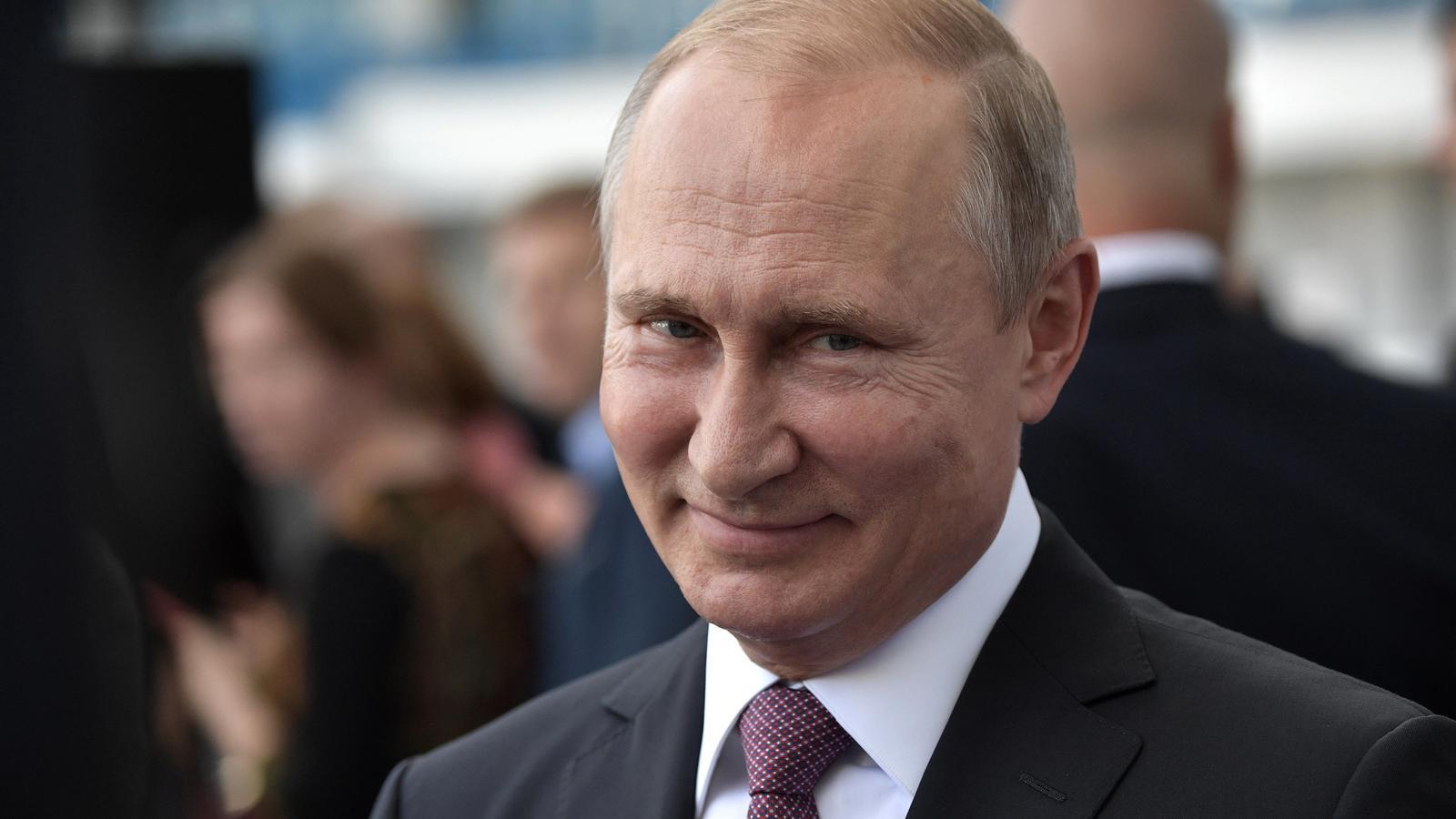 Putin somrient en la cloenda del Mundial de Futbol jugat a Rússia