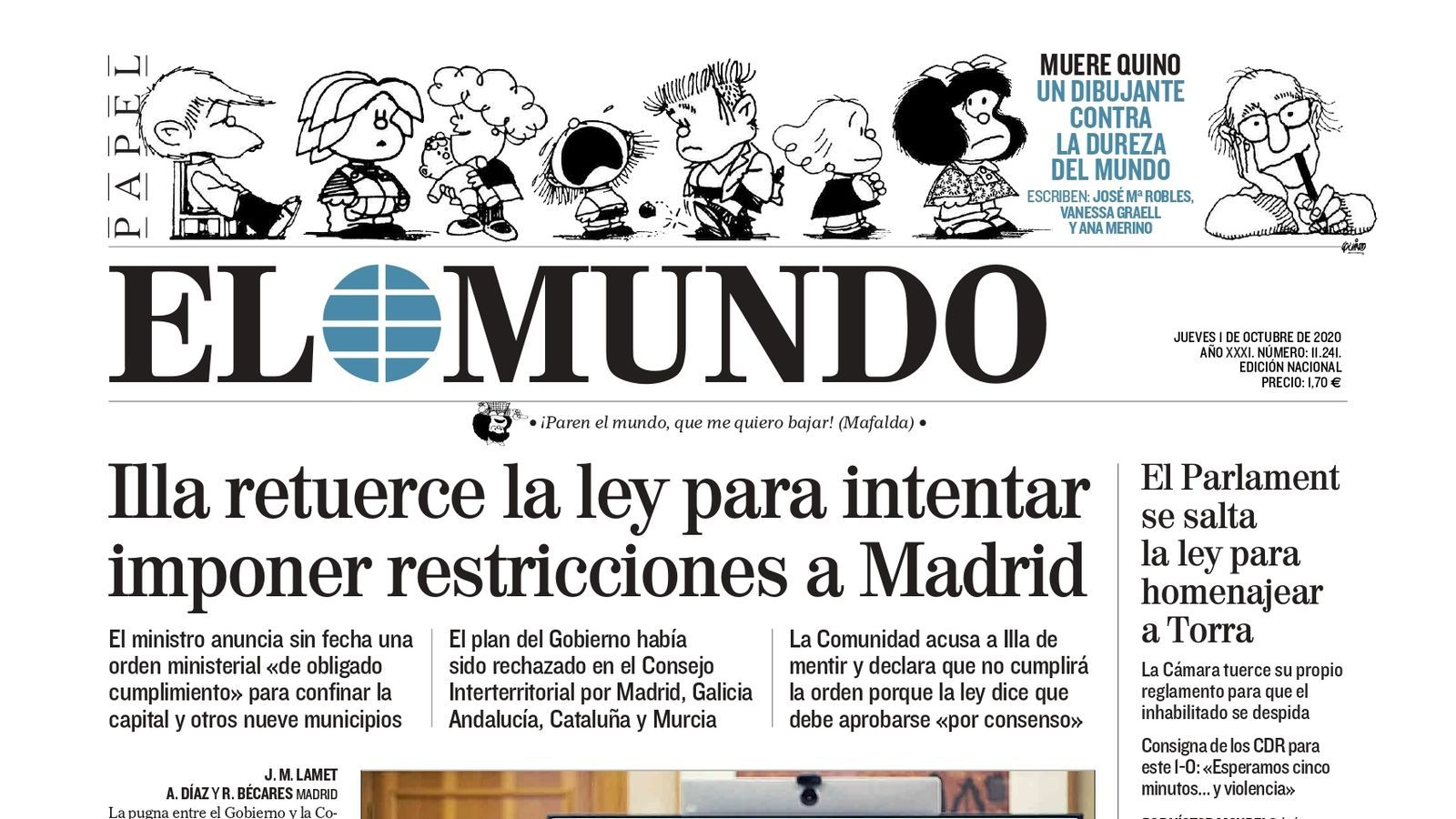 1/9/20 El Mundo