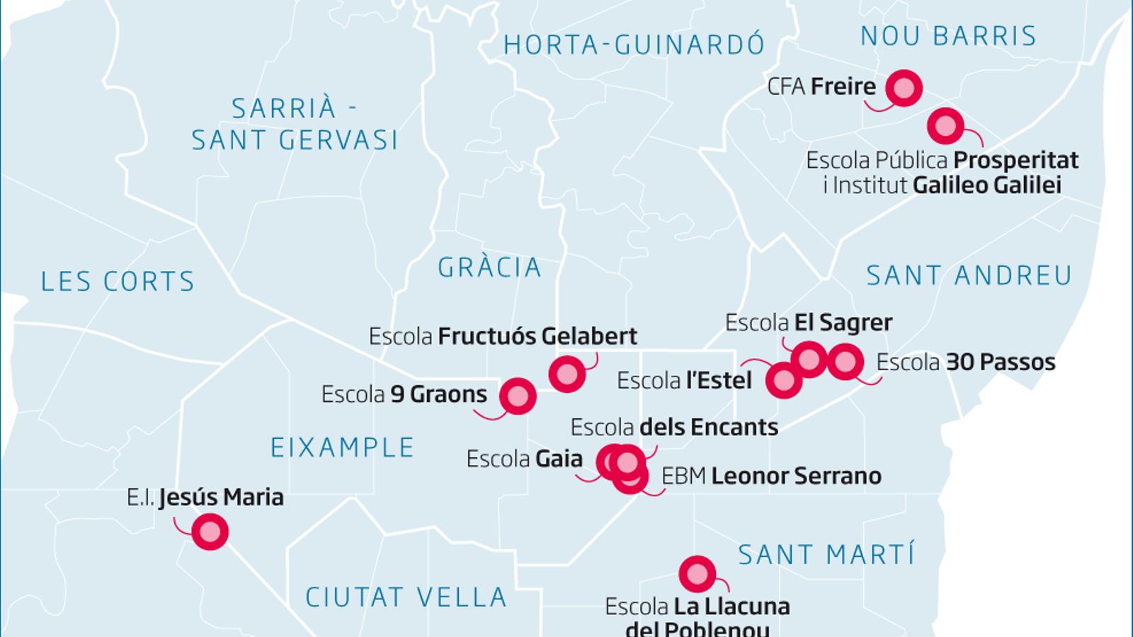 L'amiant posa en alerta una dotzena d'escoles de Barcelona