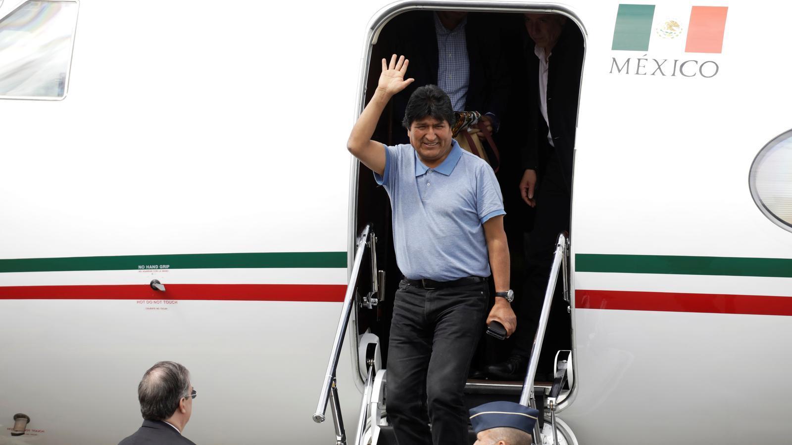 Evo Morales arriba a Mèxic com a asilat