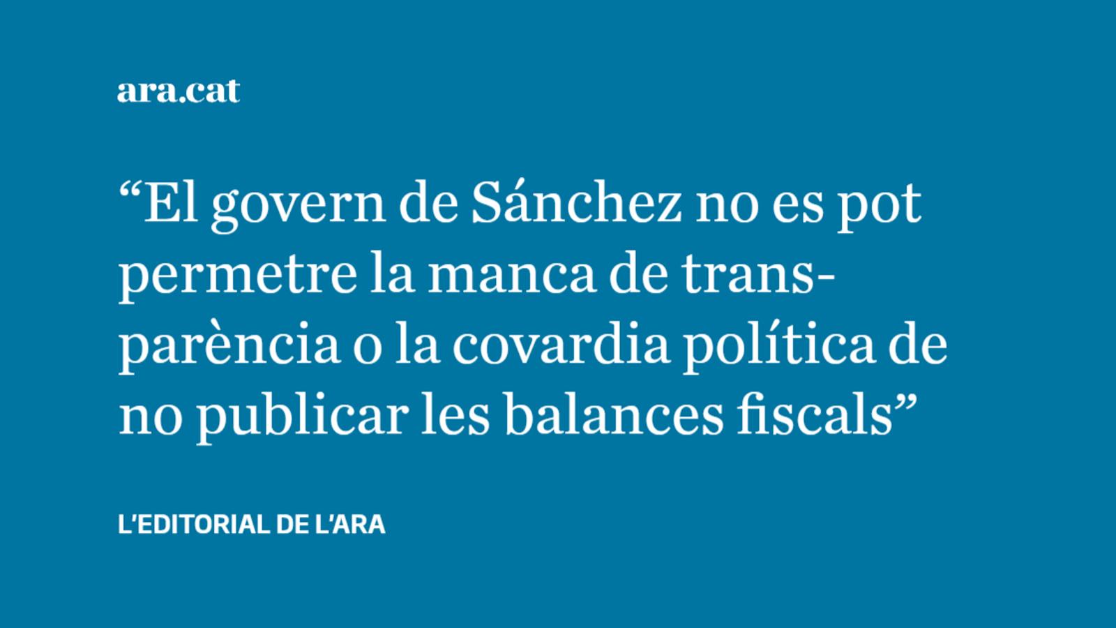 Les balances fiscals són  una exigència democràtica