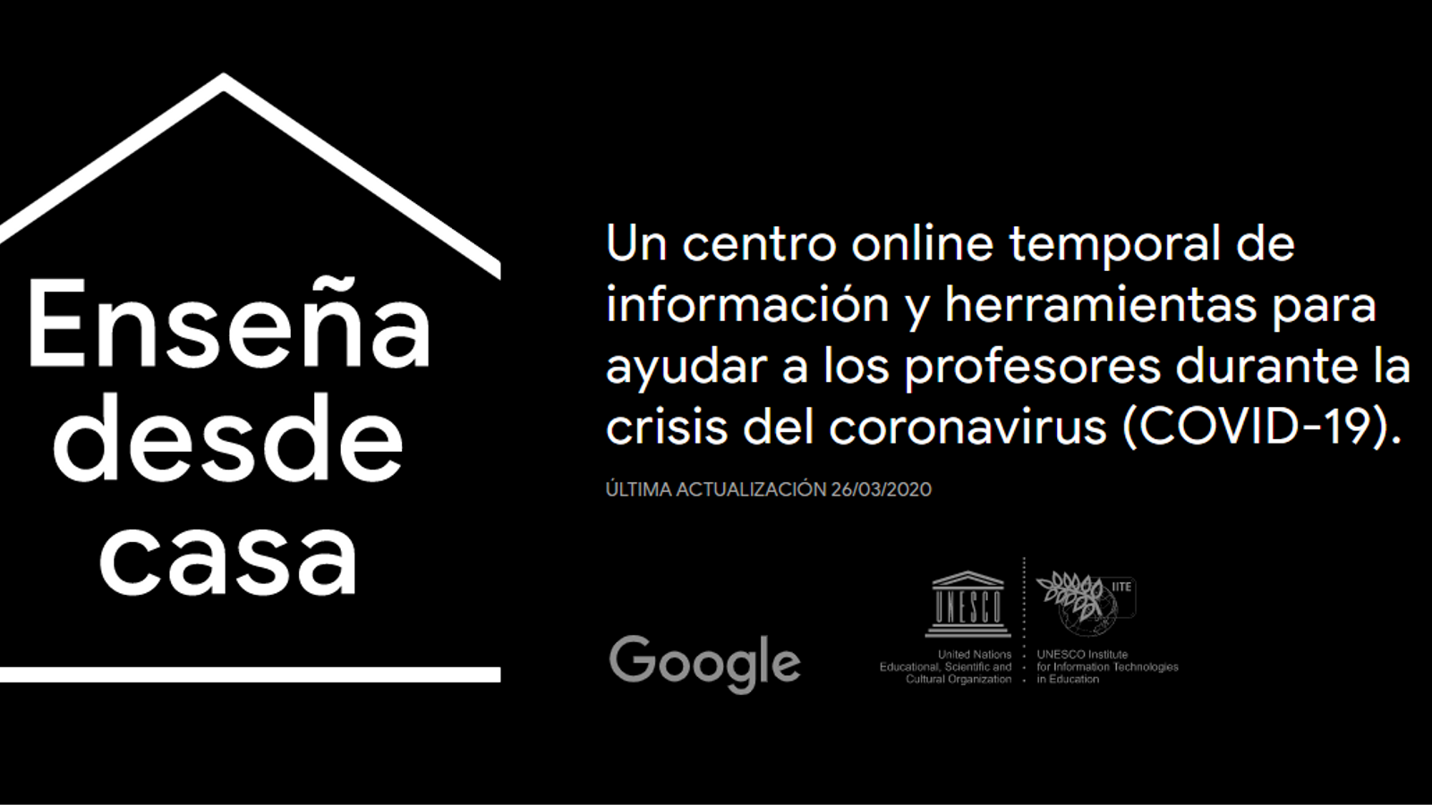 El centre de recursos d'educació a distància que ha posat en marxa Google amb el suport de la UNESCO