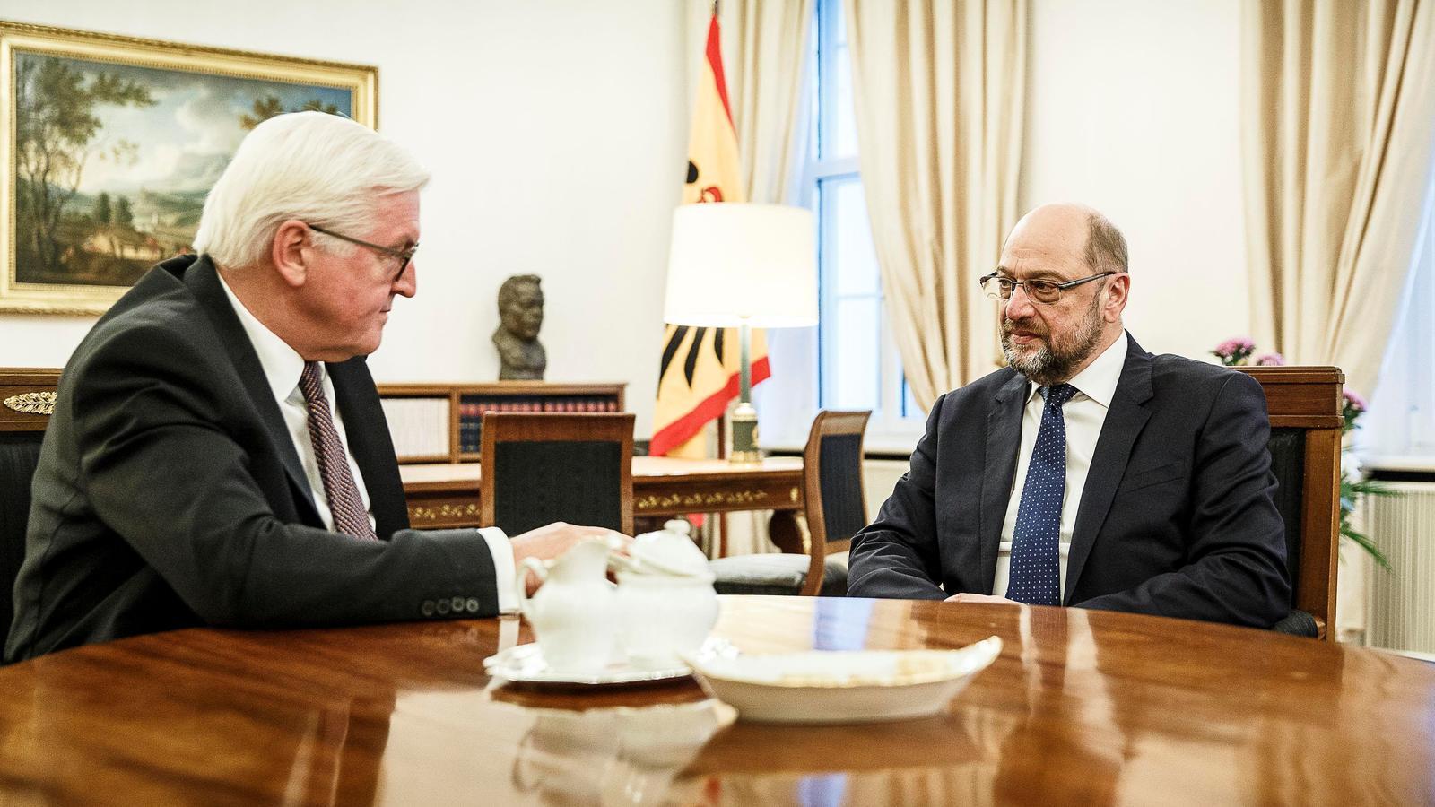 Reunió entre el president alemà, Frank-Walter Steinmeier, i el líder del partit socialdemòcrata, Martin Schulz