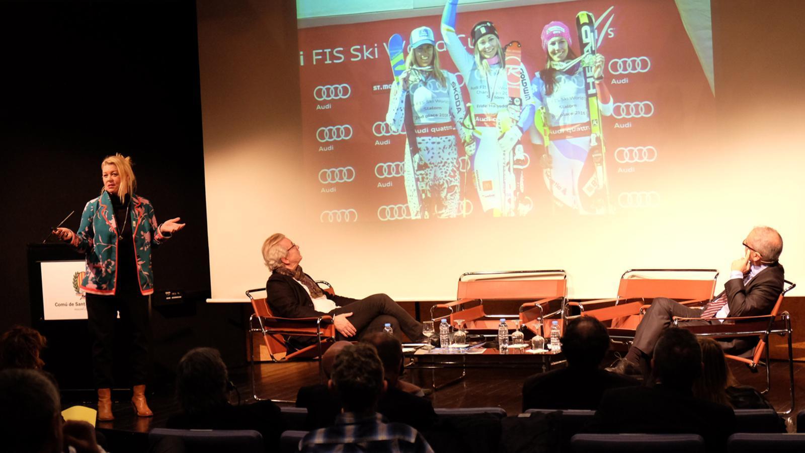 La gerent de les copes del món d'Are (Suècia), Karin Stolt Halvarsson / M. T. (ANA)