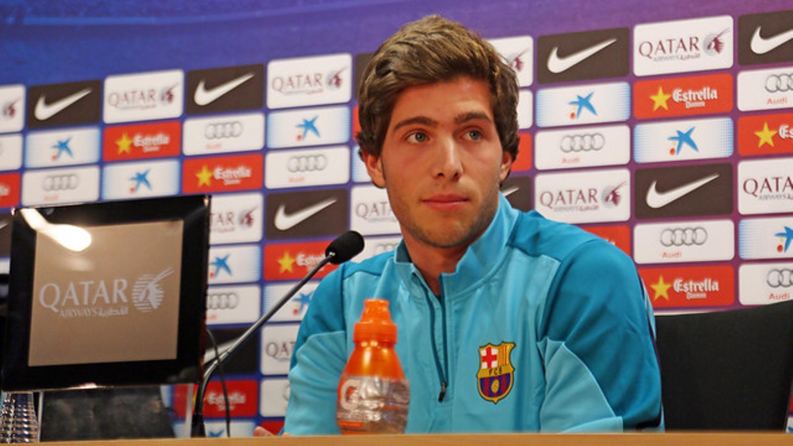 Sergi Roberto, durant la roda de premsa / MIGUEL RUIZ / FC BARCELONA
